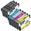 【Kingway限定】エプソン 互換インクカートリッジ IC6CL50 互換インク EPSON IC50 大容量タイプ 汎用 (6色セット 2本ブラック)