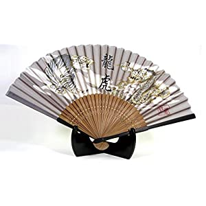 シルク扇子 龍虎 ゴールド 504-900の関連商品2