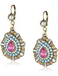 """Betsey Johnson""""St. Barts"""" Crystal Teardrop Earrings"""