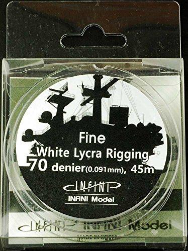 インフィニモデル ファインリギング 直径0.091mm×45m 白色 1/350用 プラモデル用パーツ IR0702