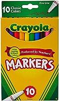 Crayola (クレヨラ) マーカー クラシックカラー10色 細線 [並行輸入品]