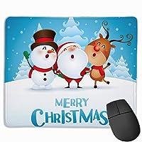 マウスパッド クリスマス 雪 グレー ゲーミング オフィス最適 おしゃれ 疲労低減 滑り止めゴム底 耐久性が良い 防水 かわいい PC MacBook Pro/DELL/HP/SAMSUNGなどに 光学式対応 高級感プレゼン YAMAYAGO
