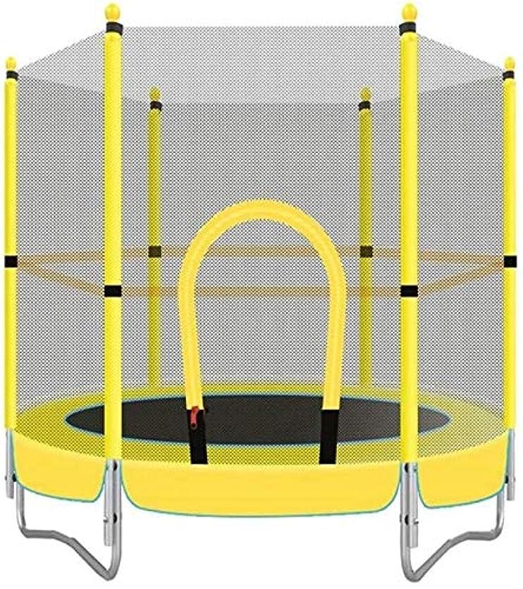 気候素晴らしさコマンドSuge ミニエクササイズトランポリンジムフィットネス機器子供のおもちゃのカバー黄色は子供の屋内トランポリンのための300キロ特殊ベアリング