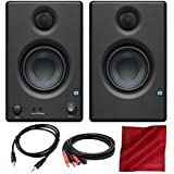 """PreSonus Eris E3.5 3.5"""" Professional Multimedia Reference Monitors with Acoustic Tuning Pair and Basic Accessory Bundle"""