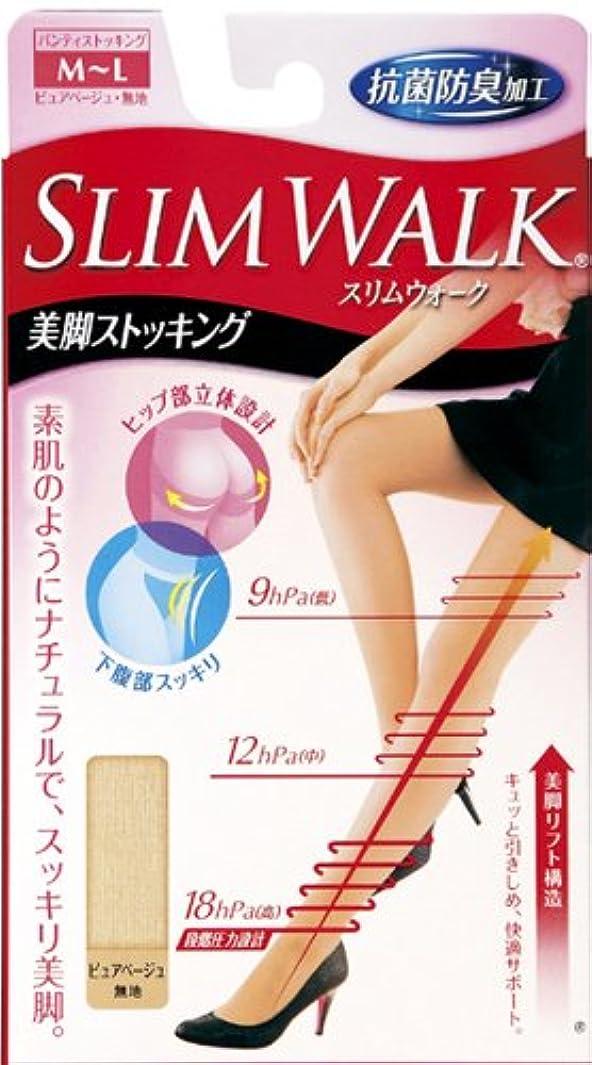 流顎解明するスリムウォーク 美脚ストッキング M-Lサイズ ピュアベージュ(SLIM WALK,pantyhose,ML)