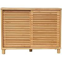 ISSEIKI シューズボックス 下駄箱 ナチュラル 幅116 格子デザインが恰好よい、お洒落なデザイン 木製家具 ROSY 116 SHOES BOX (NA)