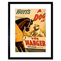 Theatre Play Stage Dog Manger Hoyt Comedy Vintage Advert Framed Wall Art Print 劇場遊びますステージコメディービンテージ広告壁