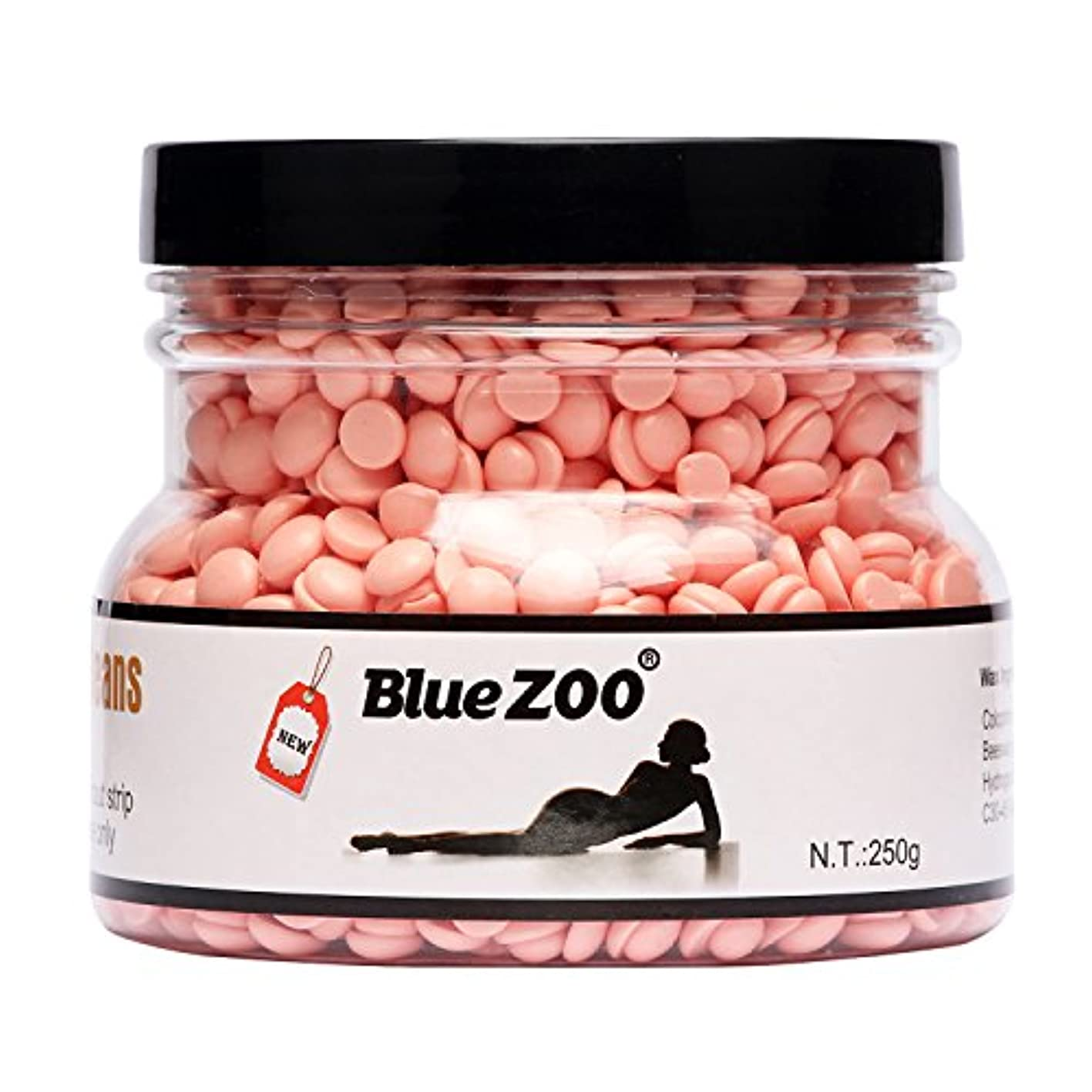 アクティビティスチュワード重くするゴシレ [Gosear] 250g 脱毛堅い熱いワックスの豆の毛の取り外しのワックスの穀物の餌の無痛は脱毛ペーパーのための必要性を刺激しなかったばら色の味