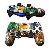 MODFREAKZ Pair of Vinyl Controller Skins - Toy Hero Metal Green Bug for Playstation 4 [並行輸入品]