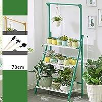 フラワースタンド 3層竹フレーム植物スタンドフラワースタンドディスプレイスタンド屋内と屋外 (色 : D, サイズ さいず : 70cm)