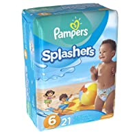 Pampers Splashers Swim Diapers, Size 6, 21 count by Pampers