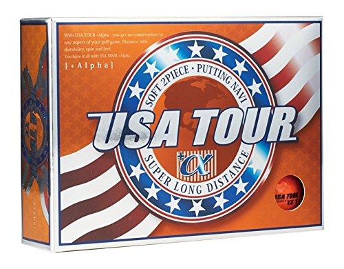 アサヒゴルフ ゴルフボール USA TOUR DISTANCE +α 12個入り オレンジ