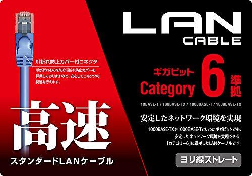 エレコム LANケーブル 0.3m 爪折れ防止コネクタ CAT6準拠 ブルー LD-GPN/BU03