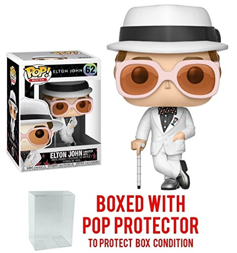 Funko POP MUSIC :エルトン・ジョン・Greatest Hits vinyl Collectible Figure + Popプロテクター