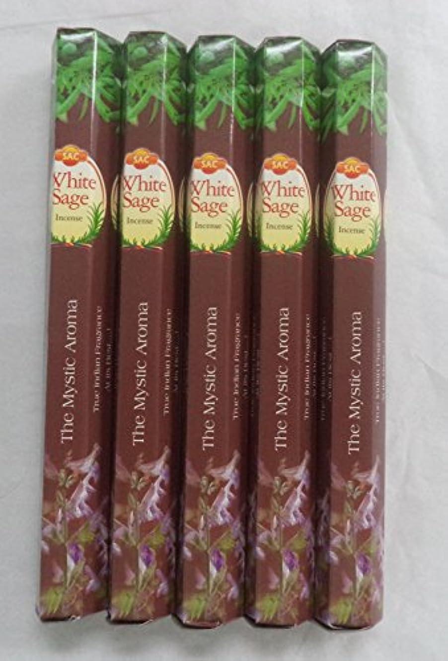 交換勝利明るいJBJ SAC White Sage 100 Incense Sticks (5 x 20 stick packs)