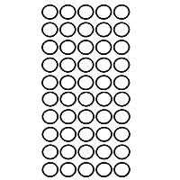 uxcell Oリング NBR材質 ブラック 内径11.5mm 幅1.5mm 柔軟なニトリルゴムOリング 50個入り