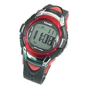 [テルバ]TELVA 腕時計 クロノグラフ デジタル メンズウォッチ TEV-2507-RD レッド メンズ []