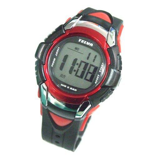 テルバ TELVA 腕時計 クロノグラフ デジタル メンズウォッチ TEV-2507-RD レッド メンズ