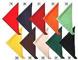 (セブンユニフォーム) SEVEN UNIFORM 三角巾 JY4672 全10色 (厨房 調理 白衣サービスユニフォーム) 8.ダークグリーン