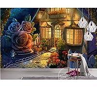 Weaeo 3D子供ルームの壁紙ファンタジー森の子供部屋のテレビの壁紙壁画壁画の壁画-200X140Cm