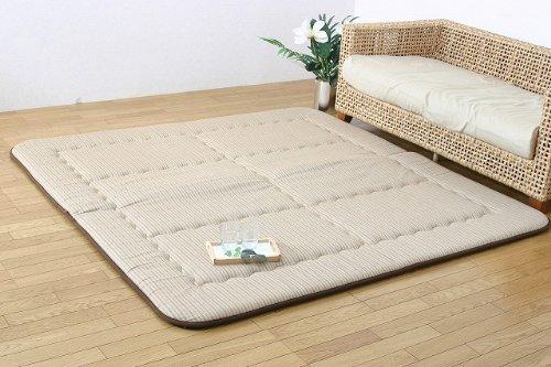長方形 こたつ敷き布団 ふっくら敷き 「ディライト」190×240cm ベージュ(#7018140) ごろ寝が気持ちいいラグ