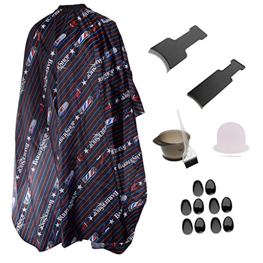 商標輝度エンコミウムサロン ヘアカラーツールセット イヤーカバー ヘアカラー ブラシ ボウル ハイライトキャップボード