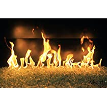 """Payandpack暖炉ガラスFireglass Fire Pit–Completeガス火キットwith Burner &パン。 36"""" GLASS FIRE KIT AB36-GFK"""
