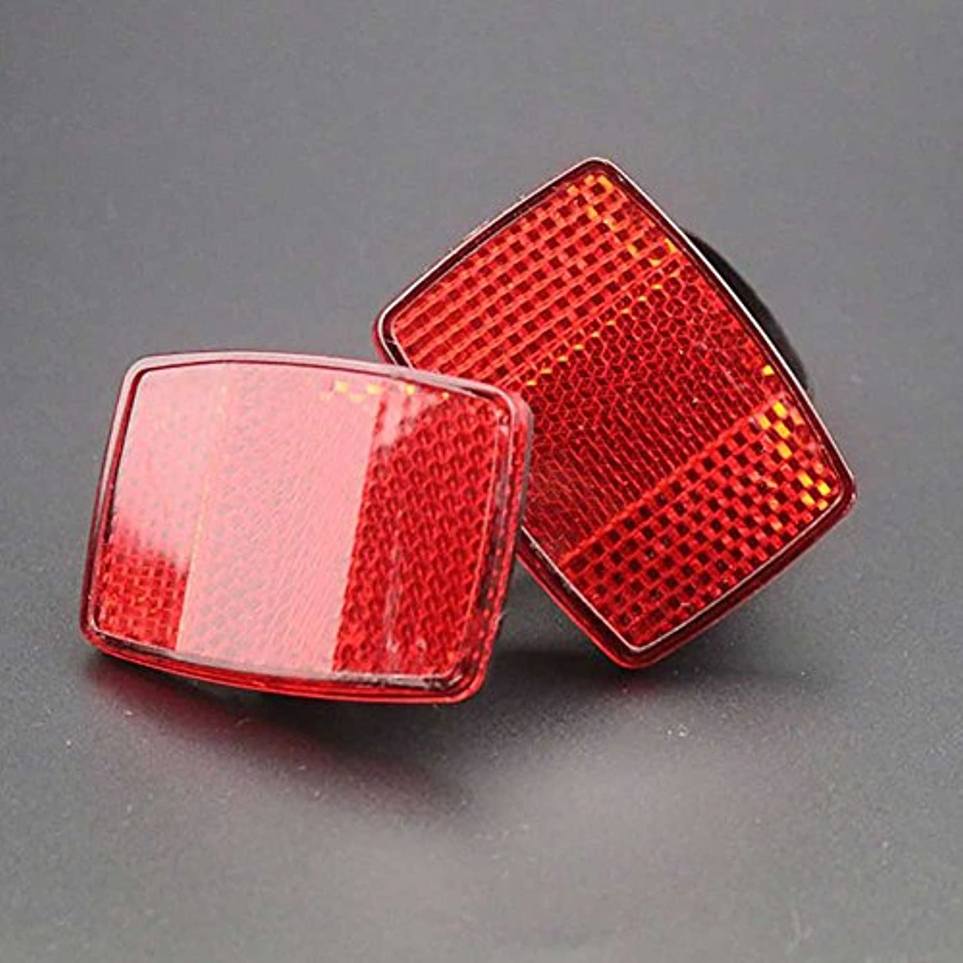 テキスト一瞬心臓Bicycle Bike Safety Caution Warning Reflector Disc For Rear Pannier Racks Frame