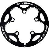 バッシュガード 50T Driveline BCD110mm CNC チェーンガード チェーンリングカバー(黒)
