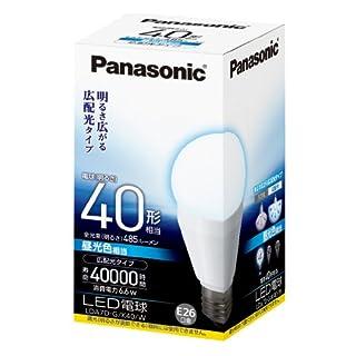 パナソニック LED電球 一般電球タイプ 広配光タイプ 6.6W  (昼光色相当) E26口金 電球40W形相当 485 lm LDA7DGK40W