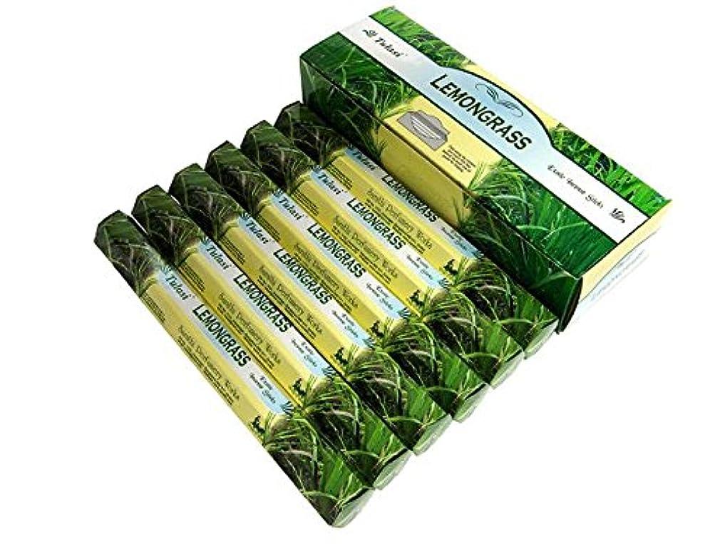 おびえた分離する中央値TULASI(トゥラシ) レモングラス香 スティック LEMONGRASS 6箱セット