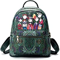 ZHANGYOUDE Leisure Fashion Creative Printing Design Double Shoulders Bag (Green) (Color : Green)