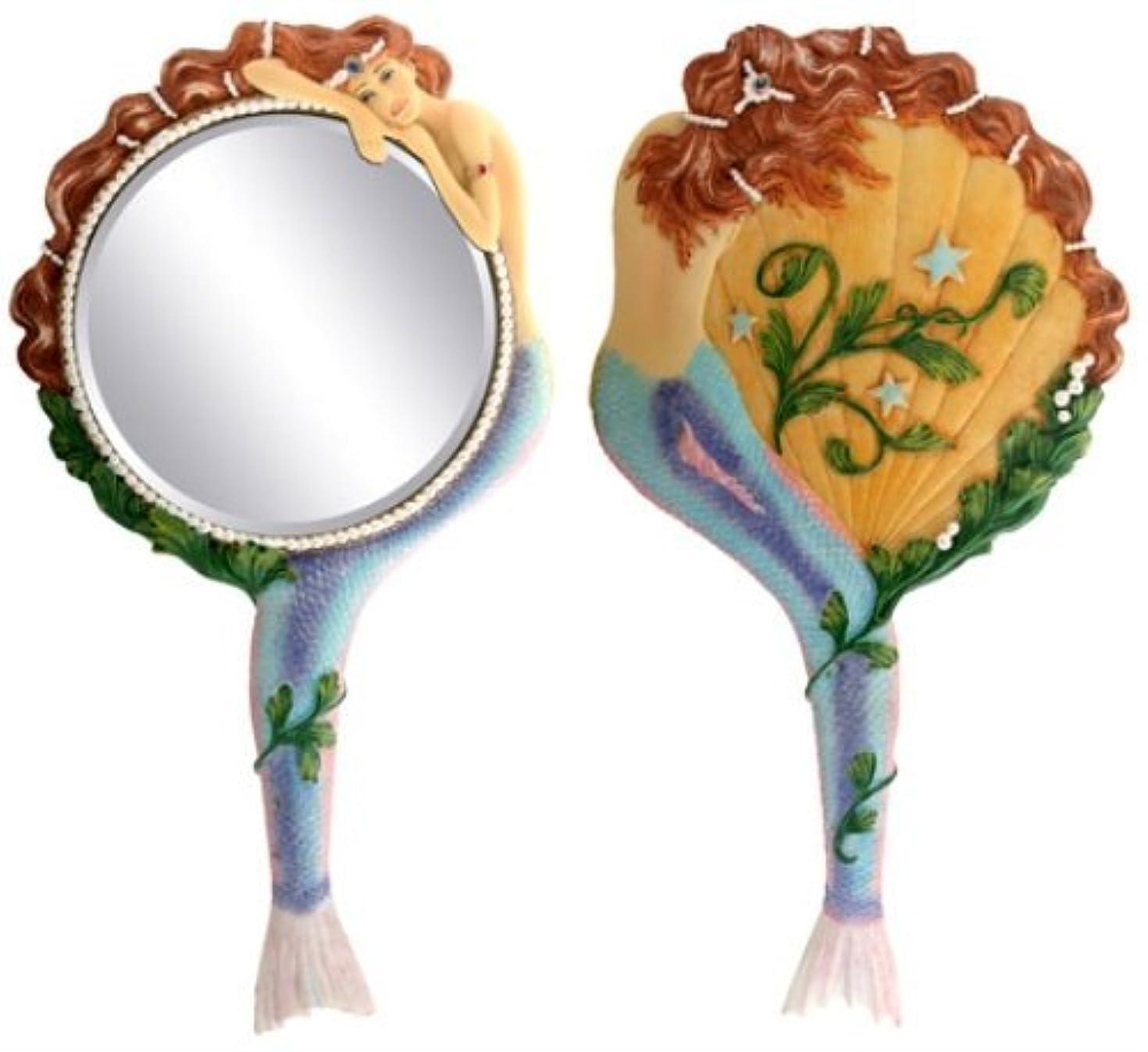 非常に怒っています恥ずかしさハンディキャップMermaid Hand Mirror Collectible Sea Nymph Decoration Figurine by Summit