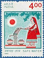 Safe Water Water, Safety, Campaign, Purity, Water Pump, Woman, Water Supply Indian Stamp