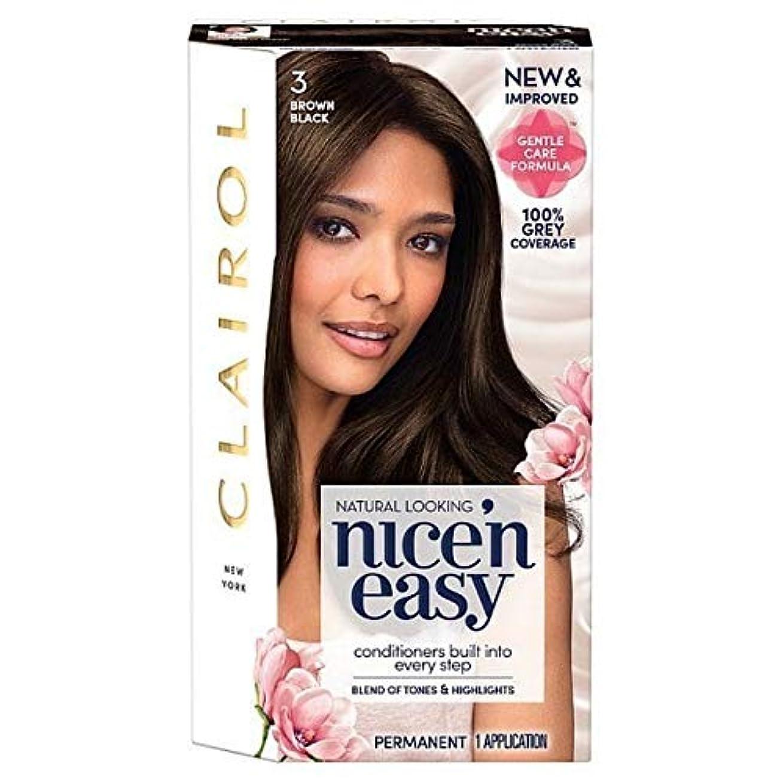 挑む制約展開する[Nice'n Easy] 黒茶色のNice'N簡単3 - Nice'n Easy 3 Brown Black [並行輸入品]