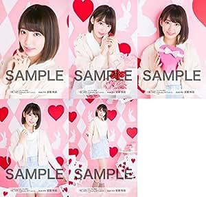 【宮脇咲良】 公式生写真 HKT48 2017年02月 vol.1 個別 5種コンプ