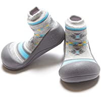 Attipas Nordic Baby Walker Shoes, Grey, Medium