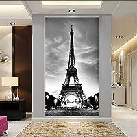 Xbwy カスタム家の装飾3D不織壁紙エッフェル塔リビングルームエントランス廊下壁紙コラージュ壁の装飾レストラン-150X120Cm