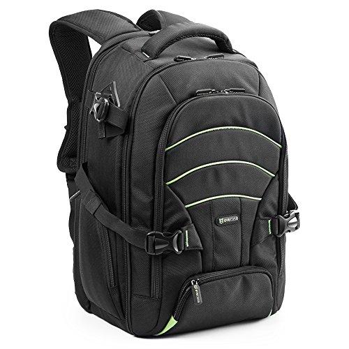 ノートパソコン/ DSLRカメラバックパック、Evecase Professional大SLRカメラ旅行バックパックwith Rain Cover forデジタルカメラ、レンズキット、その他のアクセサリー( Fits up to 15.6インチすべてノートパソコン)