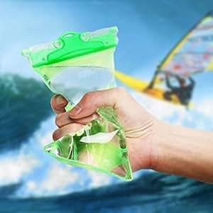 [HSFEO]2枚セット 二重防水 防水ケース IPX8 6.インチまで対応 写真・水中撮影 防水ポーチ お風呂 海水浴 夏フェス 温泉 お釣り グリーン