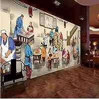 Lixiaoer 写真壁紙ヴィンテージ重慶古い鍋レストランスナックレストラン背景壁紙壁画-150X120Cm