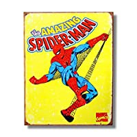 メタルサイン 「スパイダーマン(レトロ)」 #1437 /Spider-Man/ブリキ看板/アメコミ/