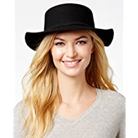 August Hats It Girl Felt Boater, Black, One Size