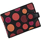Visconti Genuine Leather P5 Polka Secure RFID Blocking Passport Travel Wallet