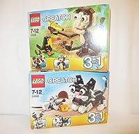 :レゴ LEGO31021と31019 猫と猿 3in1