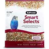 ZuPreem Smart Selects Everyday Feeding Bird Food for Small Birds, 2 lb Bag - Made in USA for Parakeets, Budgies, Parrotlets