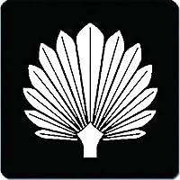 家紋 マウスパッド 佐々成政 十三葉の棕櫚 15cm x 15cm KM15-0099-01W 白紋