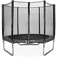 ALICE'S GARDEN - Garden Trampoline - Pluton 8ft Trampoline with Safety net - Grey - PRO Quality   EU Standards