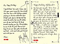 Quiplip Handwritten Yours Truly Birthday Cards 6-Pack (YT08166PCK) [並行輸入品]