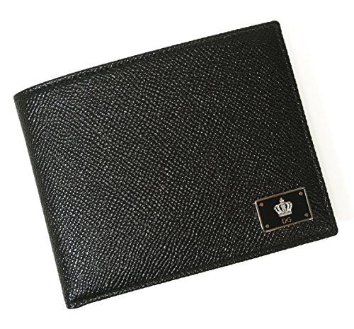 (ドルチェ&ガッバーナ)DOLCE&GABBANA 財布 メンズ ドーフィン 型押し レザー 二つ折 クラウン 王冠 DG-1546 [並行輸入品]